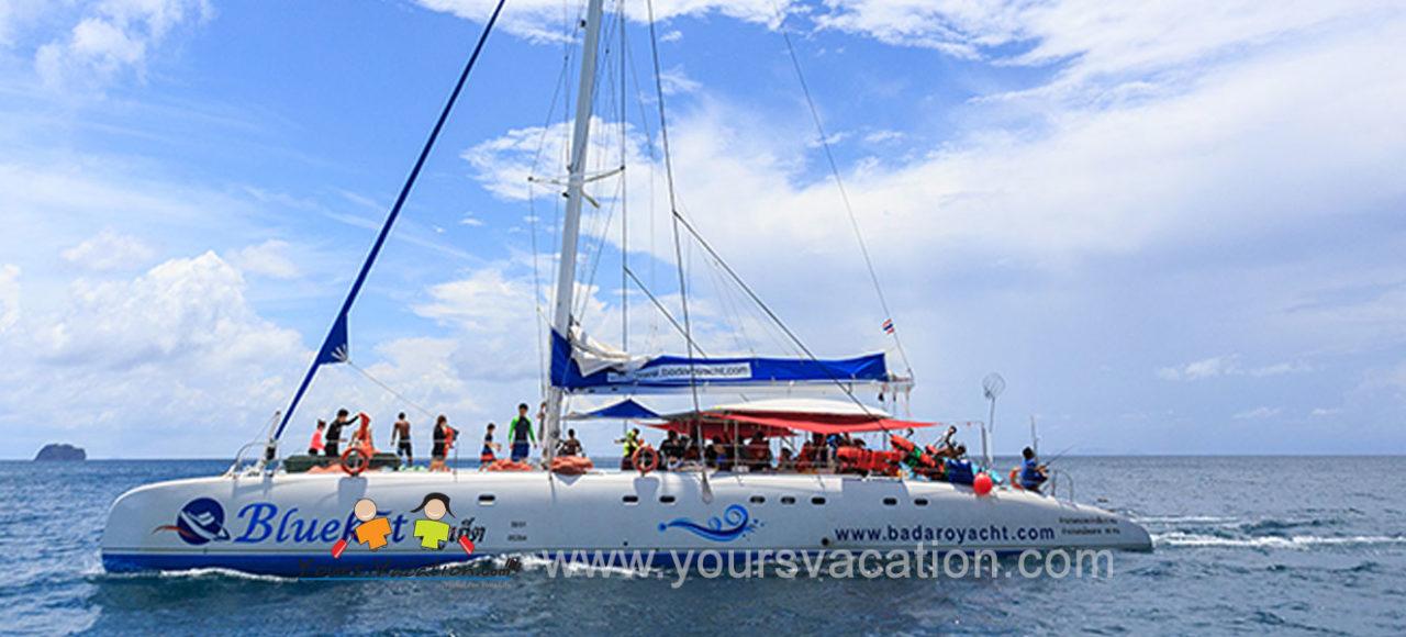 ทัวร์เกาะไม้ท่อน เกาะเฮ (บานาน่าบีช) เรือคาตามารัน เรือใบ(รอบเช้า)