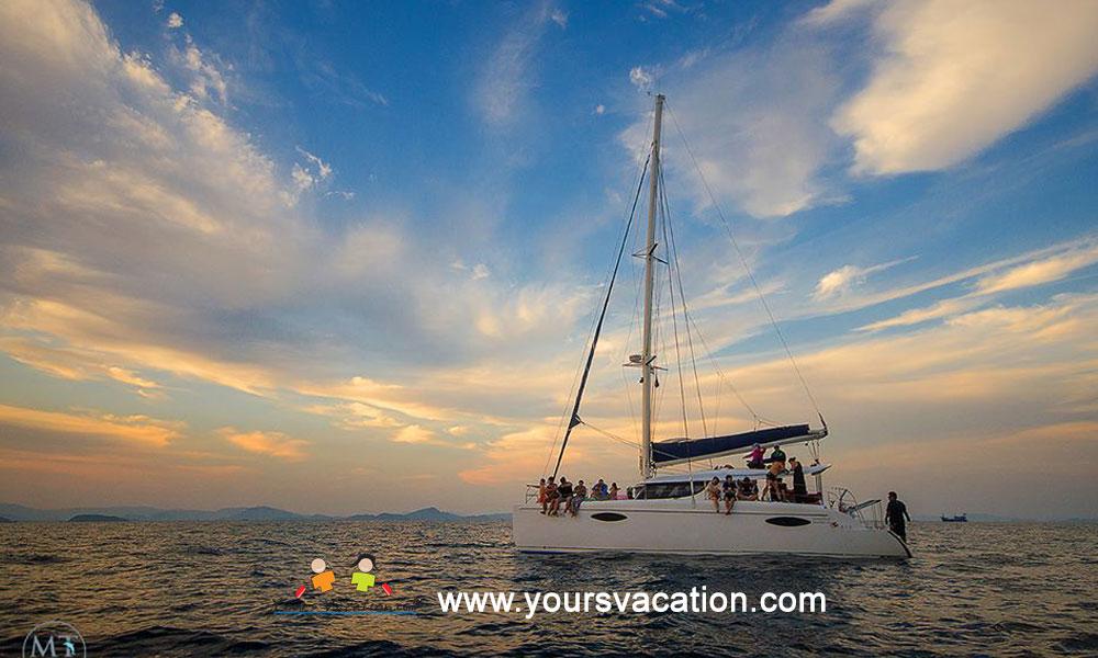 ทัวร์เกาะไม้ท่อน Sunset Dinner เรือคาตามารัน เรือใบ